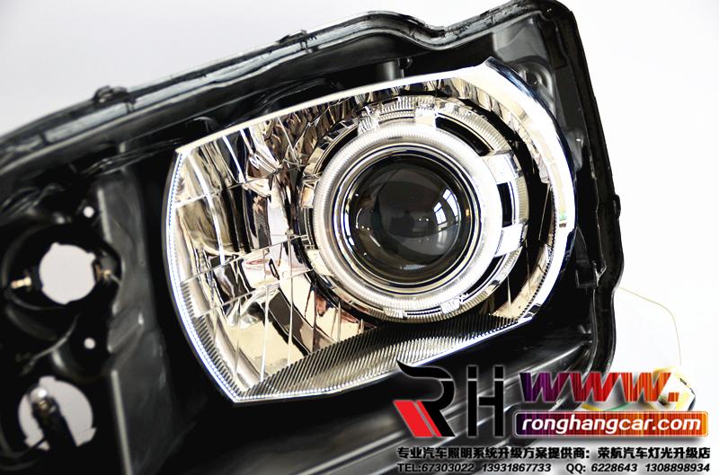 新桑塔纳大灯改装全新q5透镜